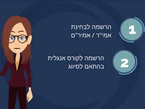 סרטון הסבר על בחינות המיון באנגלית