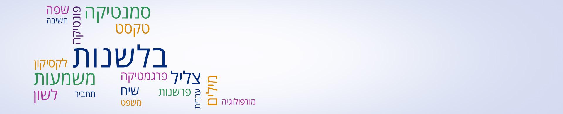 תכנית לימודים בבלשנות ולשון עברית
