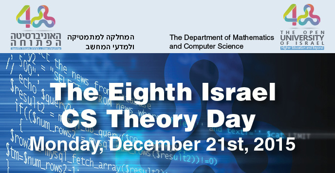 The Eighth Israel CS Theory Day